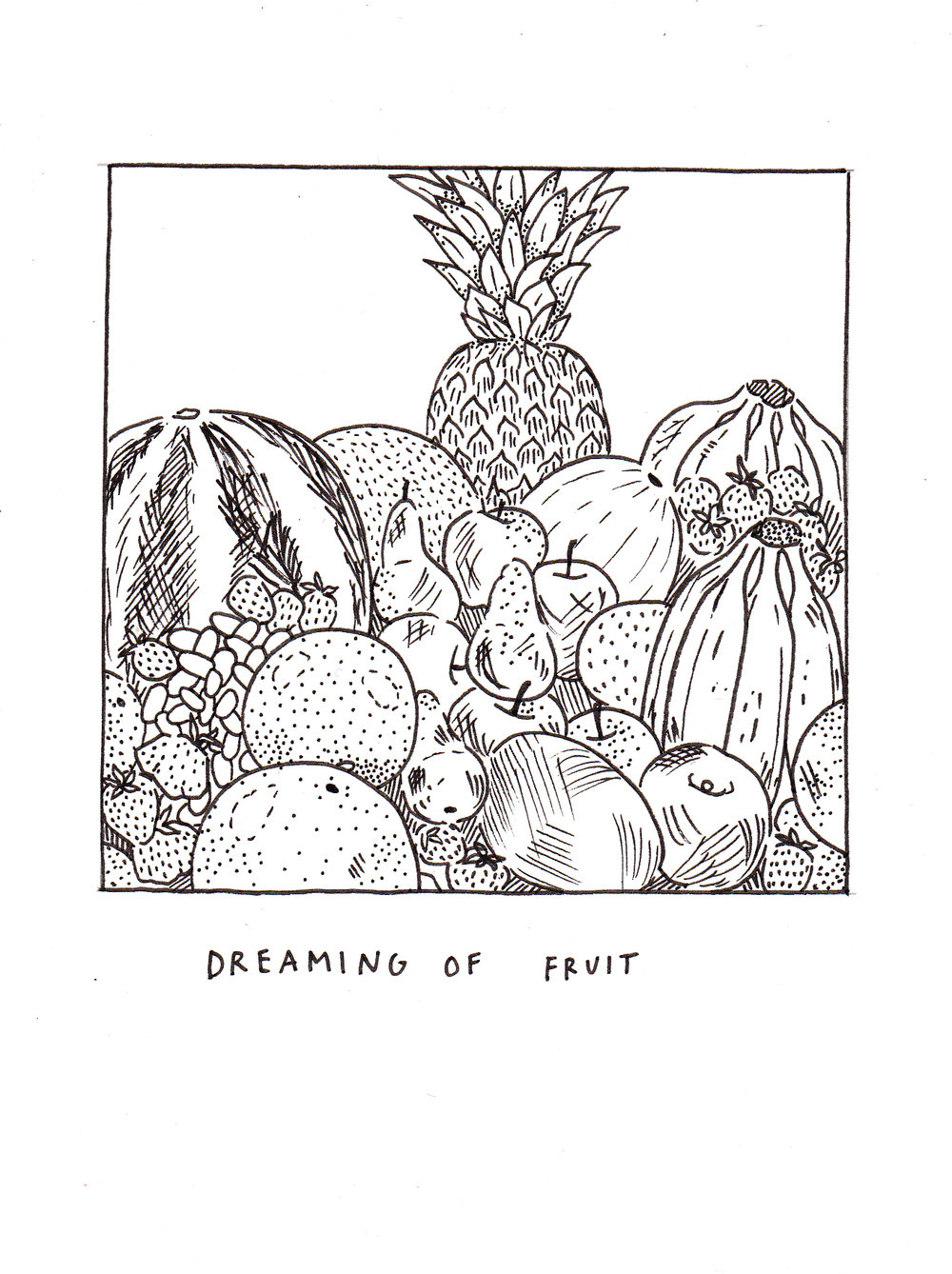 Fruit. 2017. Ink on paper