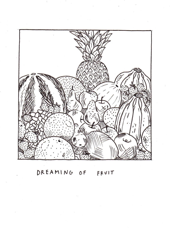 Fruit. 2017. Ink on paper