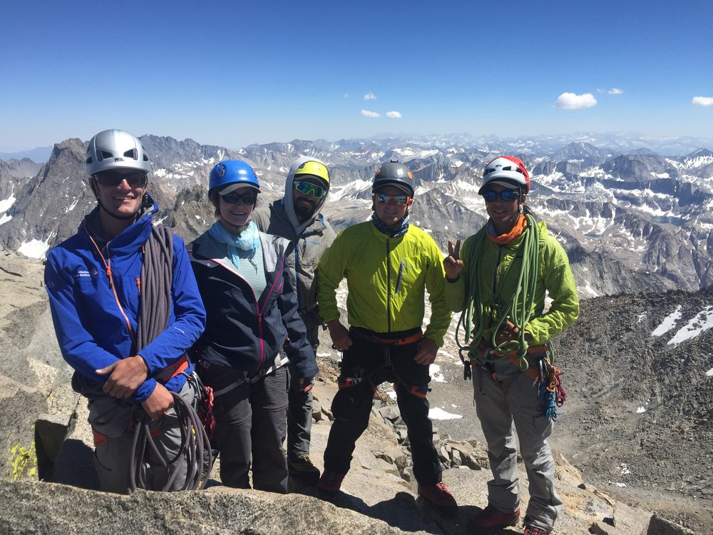 Savoring the fifth and final summit of the Palisade Traverse: Mount Sill