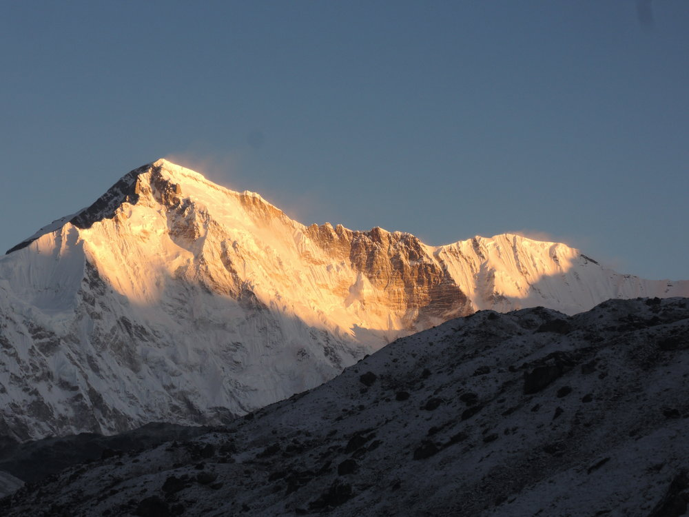 Cho Oyu at sunrise, from Gokyo