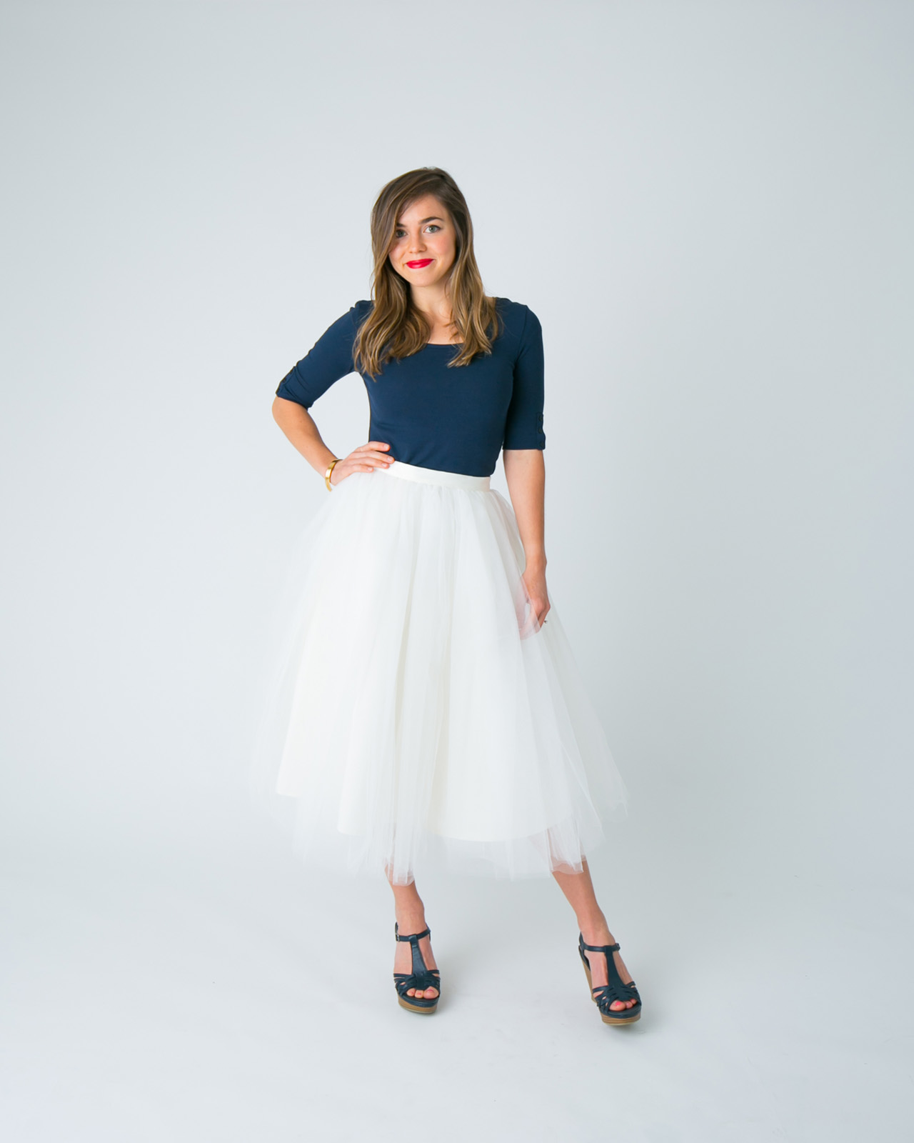 c9d68a3a25 IVORY TULLE SKIRT