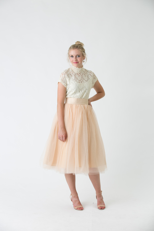 bfea7cf943 CHAMPAGNE TULLE SKIRT — LONDON GRAY