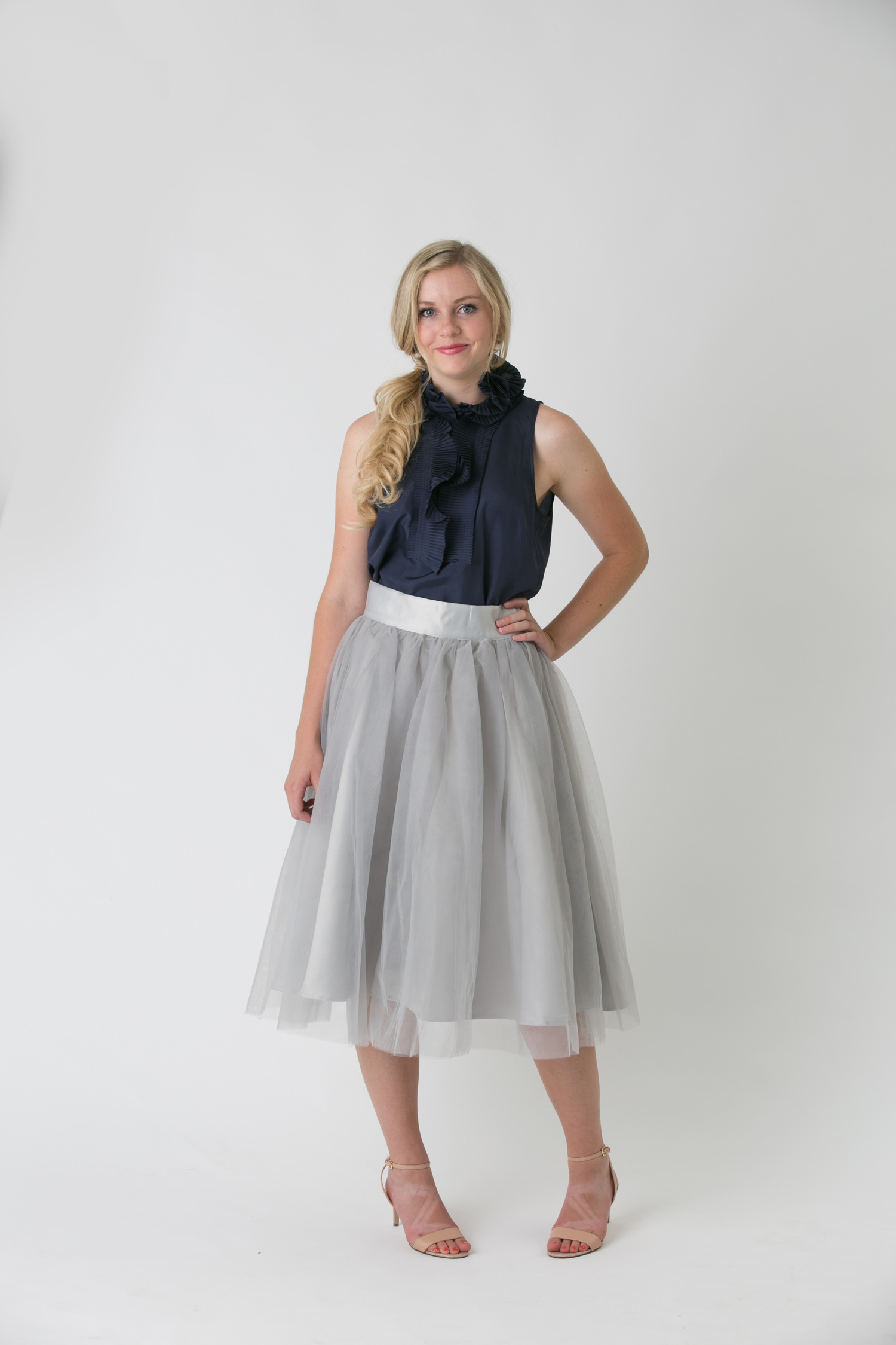 2484a31028 GREY TULLE SKIRT