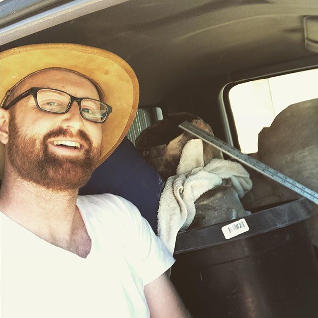 Packed truck. Just enough room for me. Time to take the pots to the gallery. #jarpottery #thebreakingpointshow #thebreakingpoint #pottery #pitfire #art #ithinkillmakeit