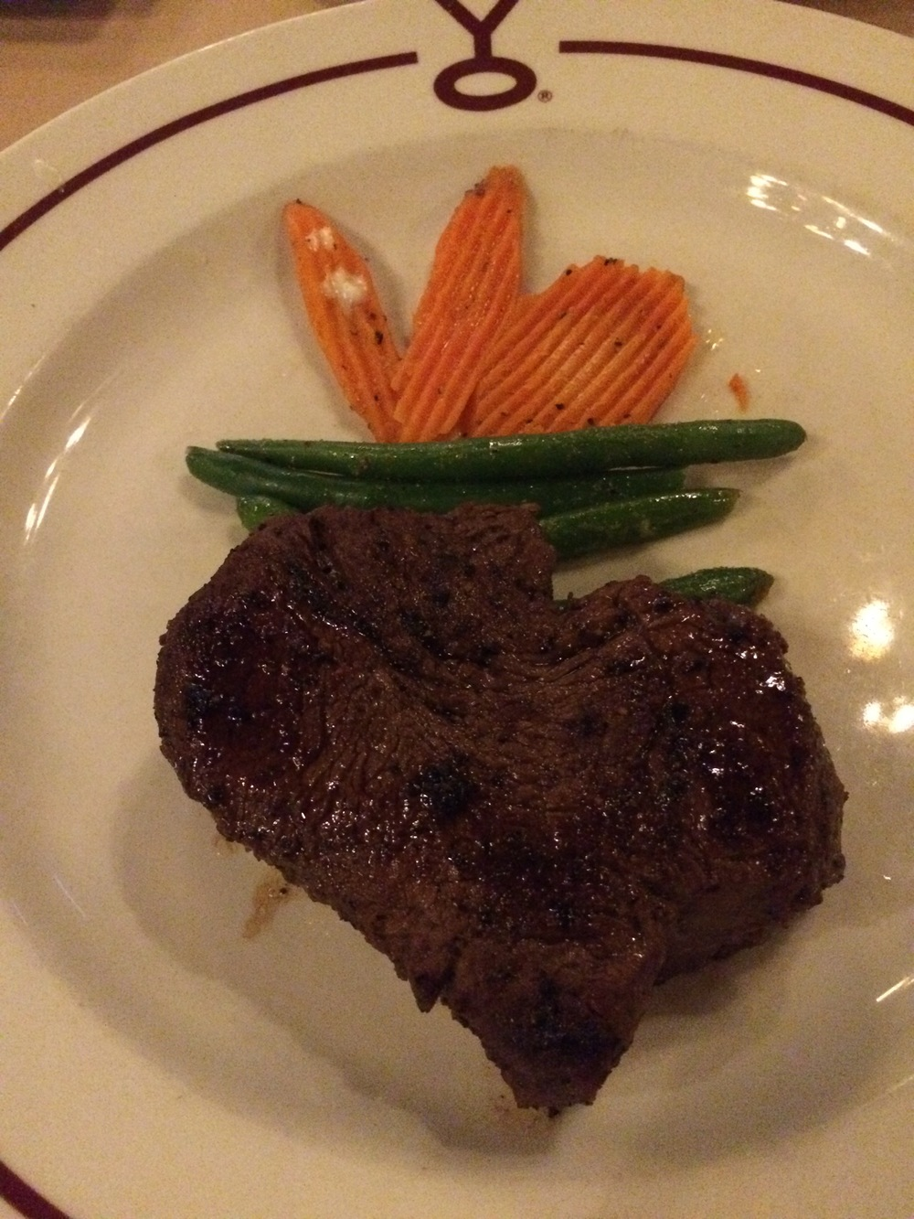 YO Steakhouse's buffalo filet mignon