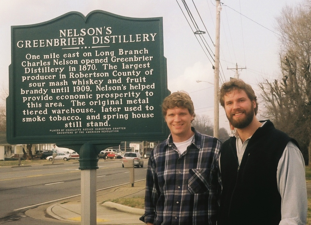 Andy and Charlie Nelson visiting the town of Greenbrier in 2006