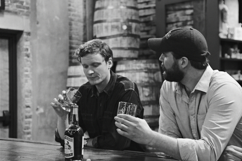 Andy and Charlie Nelson in the new Nashville distillery