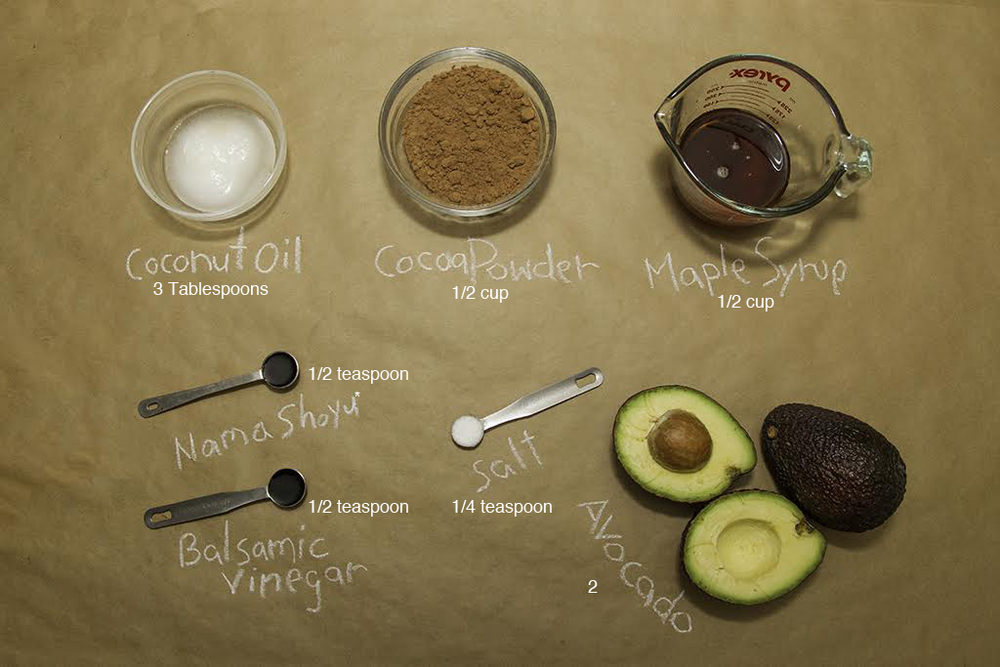 Chocolate Pudding Ingredients