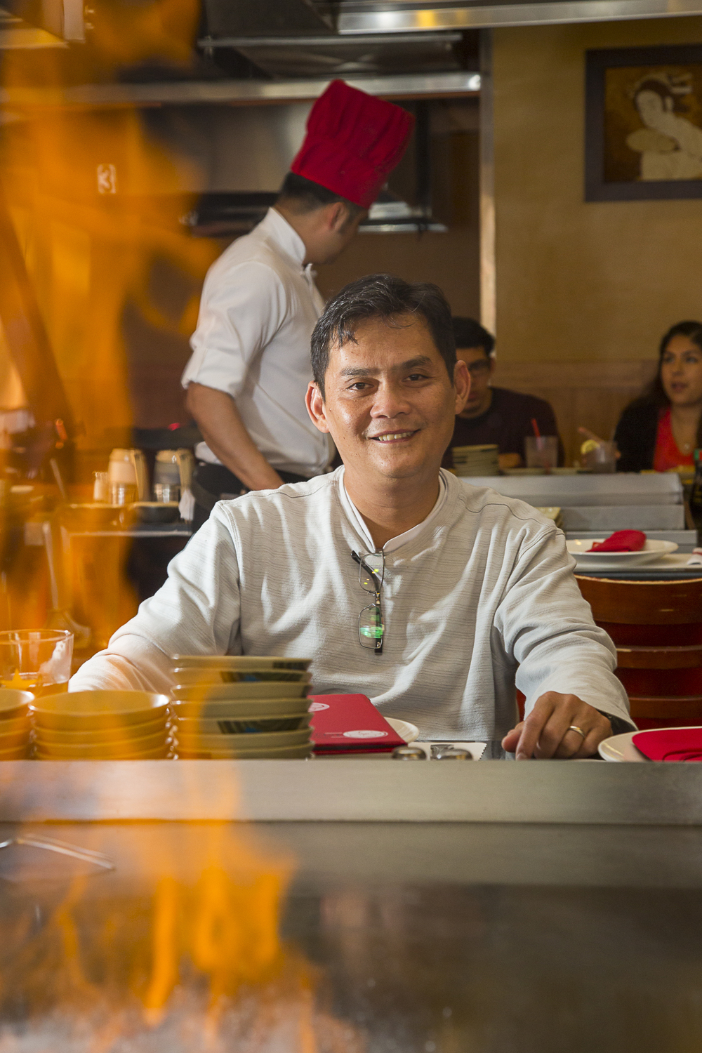 Tim Vu, part owner and original chef at Sakura Teppanyaki & Sushi