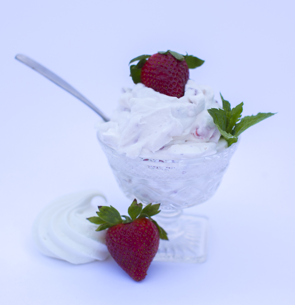 Whipped cream, meringue cookies, and strawberries - that's all you need for Eton Mess!