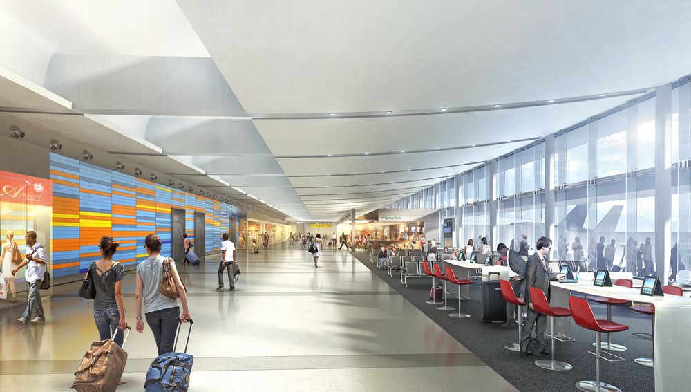 AIRPORT INTERIOR CONCEPT  USA |  Image courtesy of HOK LA