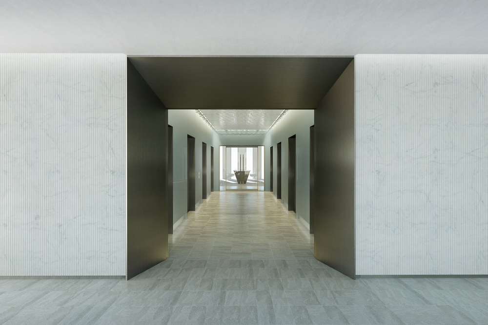 ELEVATOR LOBBY CONCEPT   New York City, New York |   Client:  HOK NYC