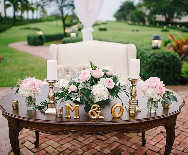 So in love with this sweet heart table!  Thank you @evanrphotography for the beautiful sneak peak image.  Planning by : @total_events  Vintage rentals: @thesalvagesnob  Florals: @glamourfloralcreations  Venue: @thalattaestate Event Dj and Lighting: @total_avs