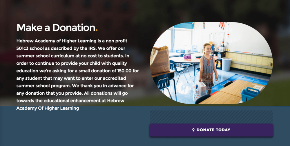 Accept Donations for your school