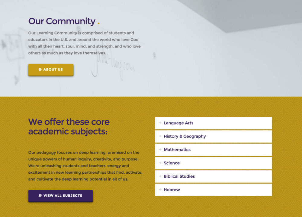 Offer your choice of Subjects