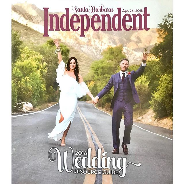 Thanks for all the love to today @sbindependent @lamb_stone @davinmh23 @santabarbarabotanicgarden #santabarbarawedding #santabarbaraphotographer #sb #weddingday #cover #🙏