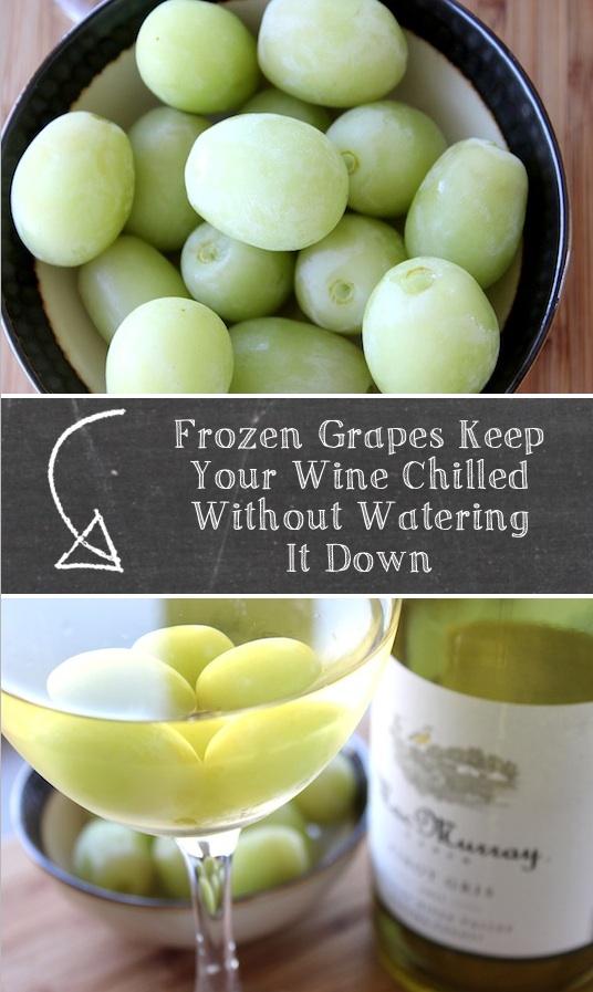 Wine Chiller Hack: Frozen Grapes! (Listotic)