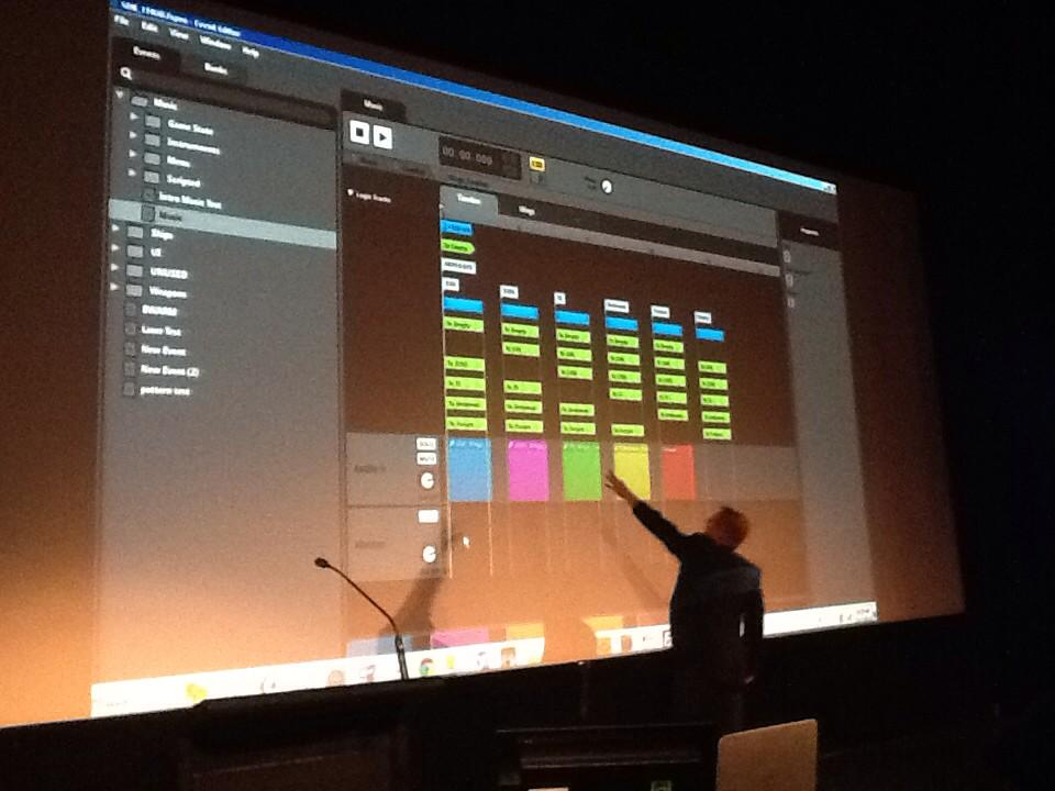Stephan Schütze took us through a complex sound software in his Animfx presentation.