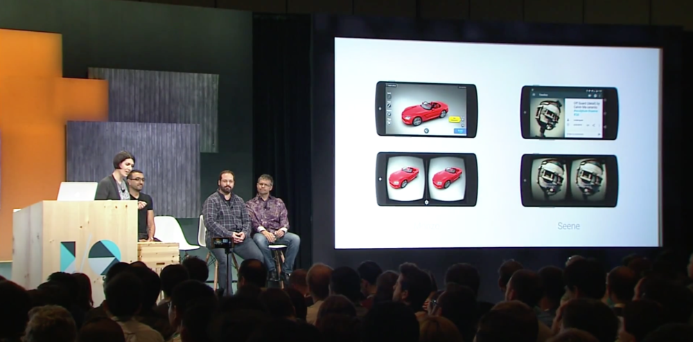 Seene featured on stage during Google IO 2015 VR Keynote