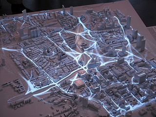 Projection Mapping on hard surface models @ Future Cities Lab