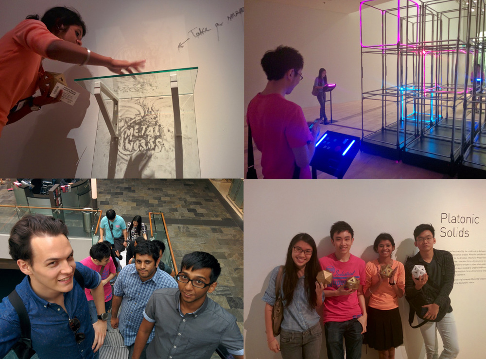 The Metalworks team visits the local exhibition for inventor, Leonardo da Vinci and interacts with the various contemporary art exhibits present.
