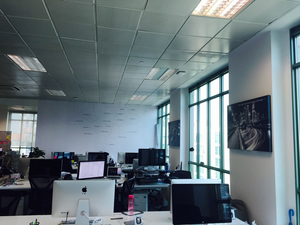 Office space and layout @ Uber SG