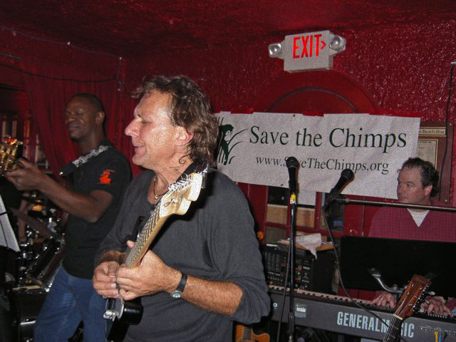 With own band - event for Save The Chimps