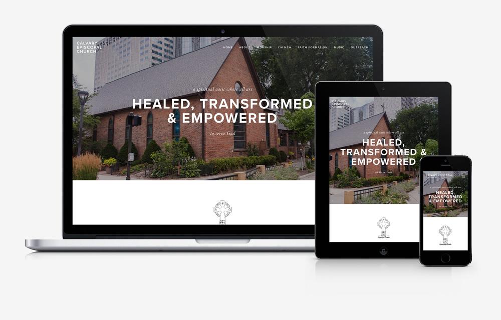 Calvary Episcopal Church responsive website design by PixelPress