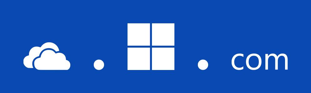 OneDriveDotMicrosoftDotCom expanded blue smaller