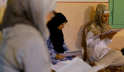 Women studying the Koran during Ramada