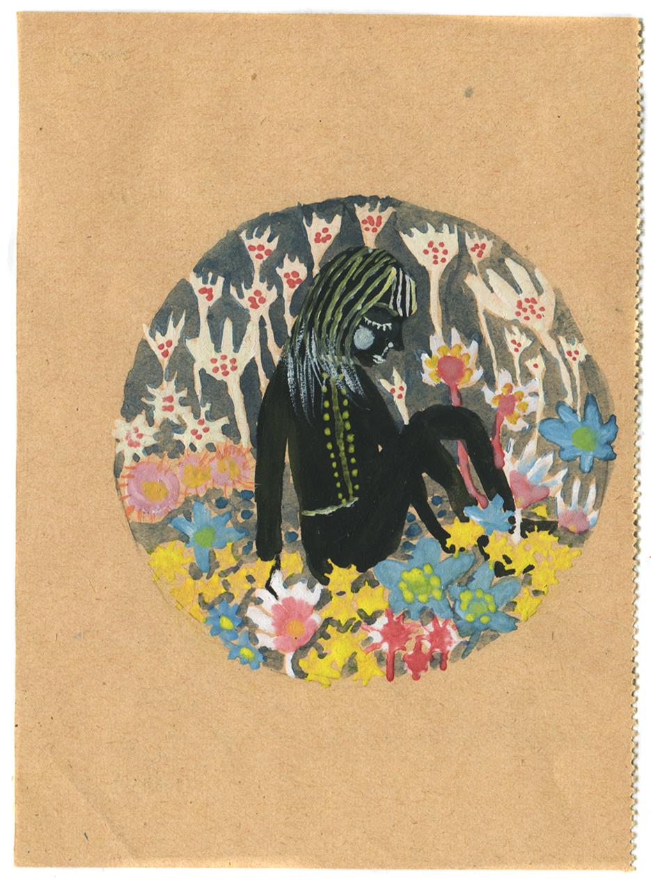 Blomstereng, gouache on paper, 2012