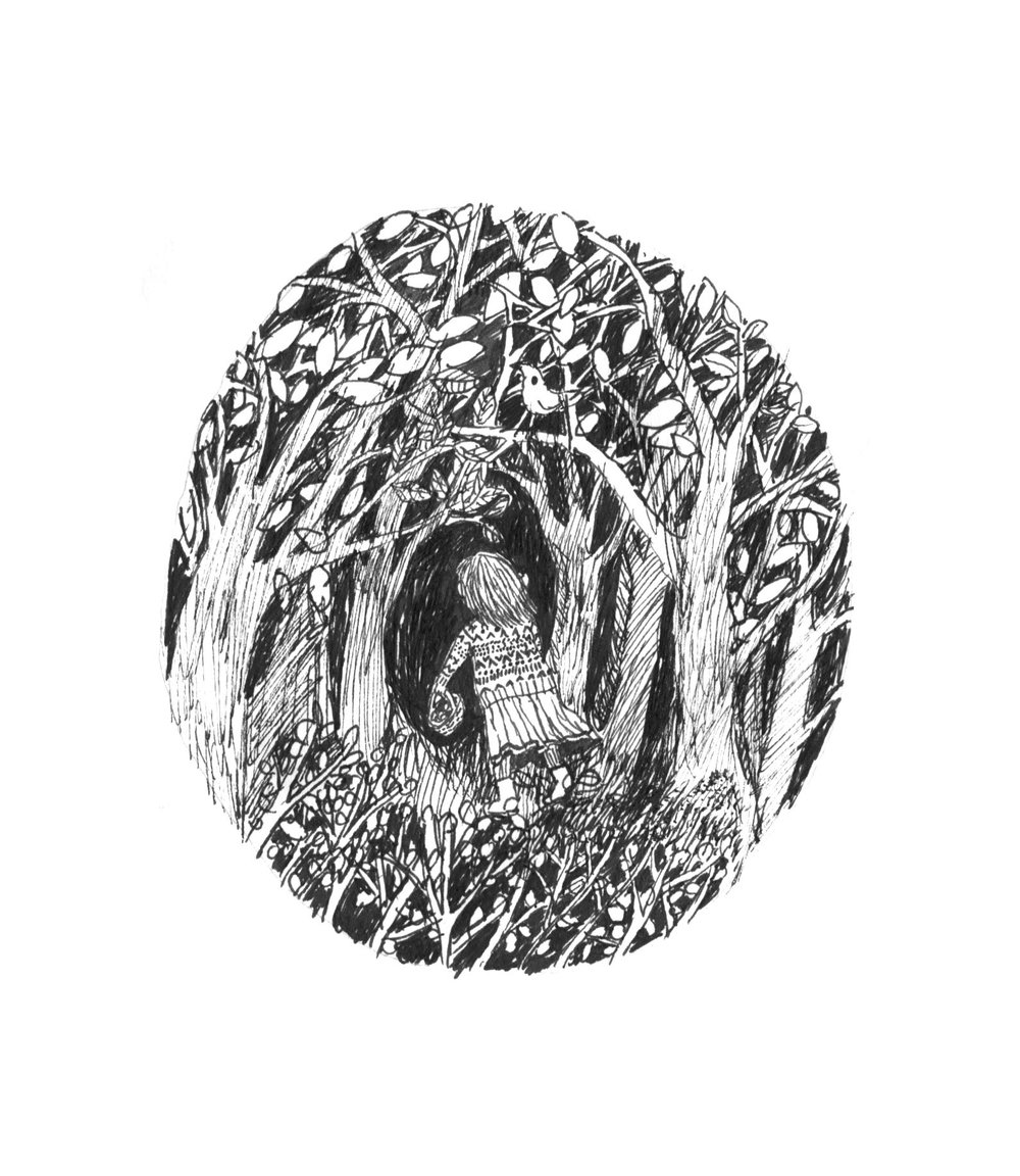 Forrest, 10 x 10 cm, 2016