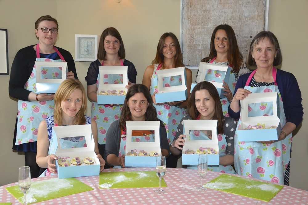 Corporate Team Building Cupcake Decorating Activity Class Bath