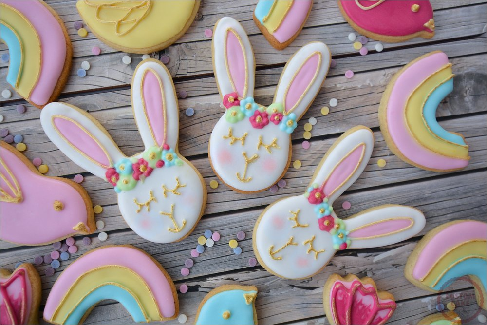 Sleepy Bunny Iced Easter Biscuits