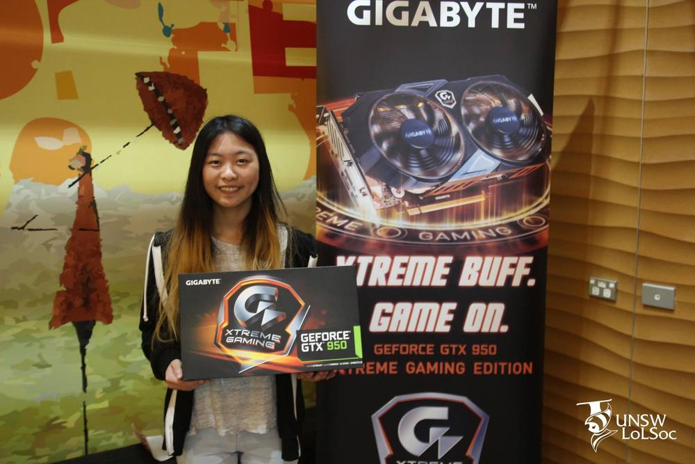 One of our lovely members Julie, participating in the Gigabyte Social Media Competition!