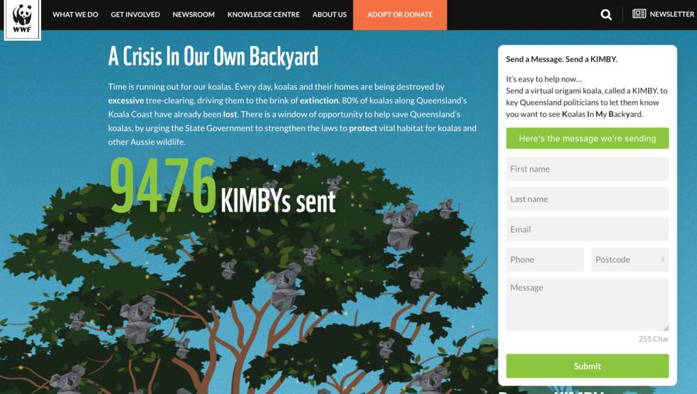 KIMBY microsite