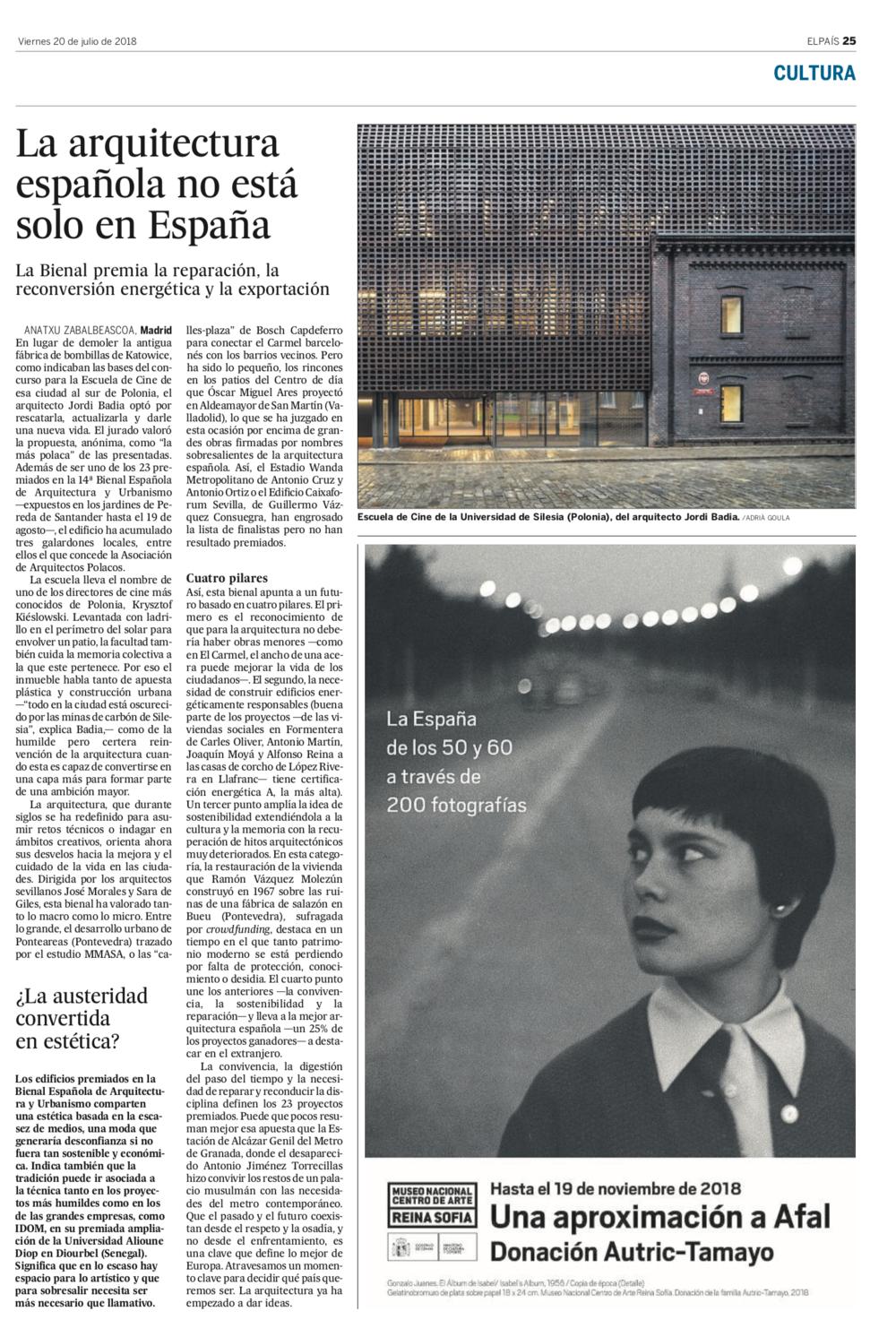 La arquitectura española no está solo en España - EL PAÍS