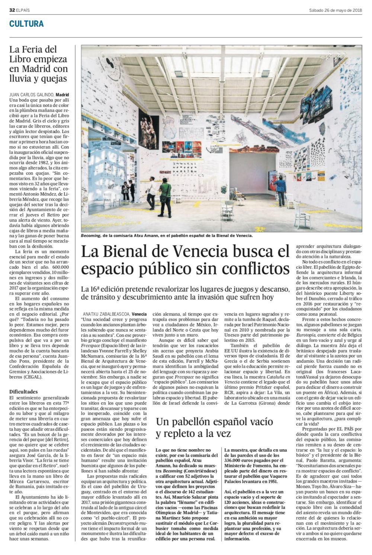 La Bienal de Venecia busca el espacio público sin conflictos - EL PAÍS