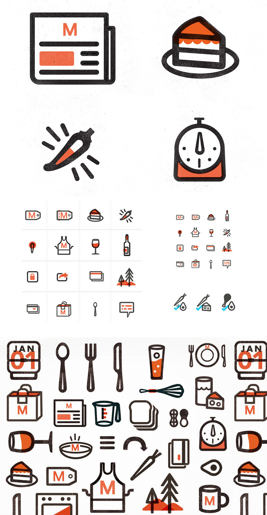 Lovely icons for the new identity for Munchery. See more on Brand New.