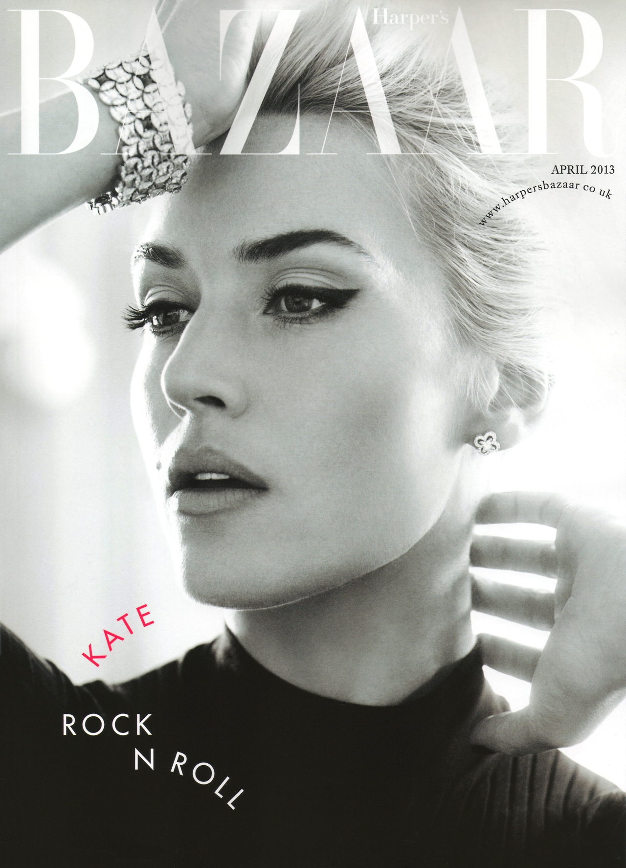 A gorgeous front cover for next month's UK Harper's Bazaar. Also with some simply, lovely 'rolling' typography. Kate Winslet, photographed by Alexi Lubomirski.