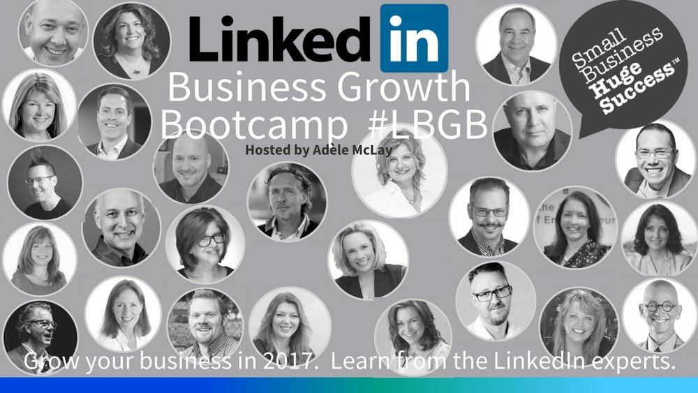 Promotional poster detailing all the profile photos of all the LinkedIn coaches, experts and trainers.