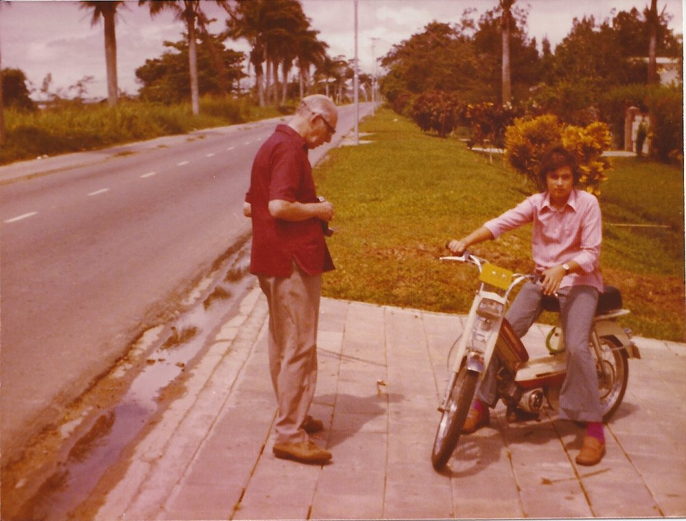 Grandfather de Groot and Michael de Groot in Surinam 1974