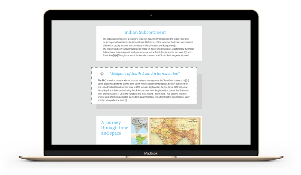 Content authoring tool - Sahapedia - by Kiba Design