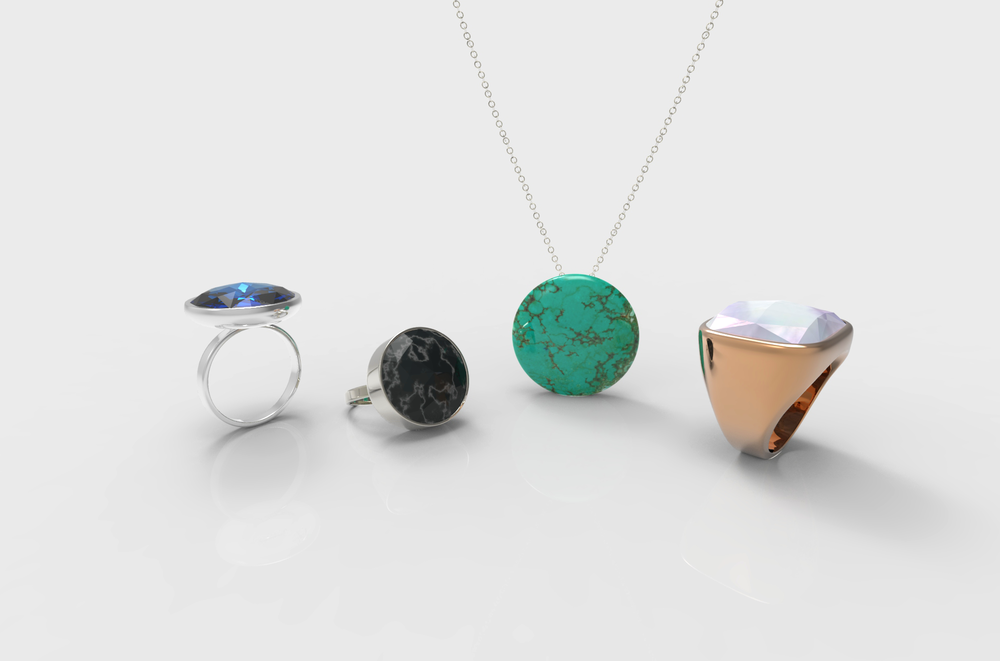 Smart jewelry wearables - Designed in India - by Kiba Design