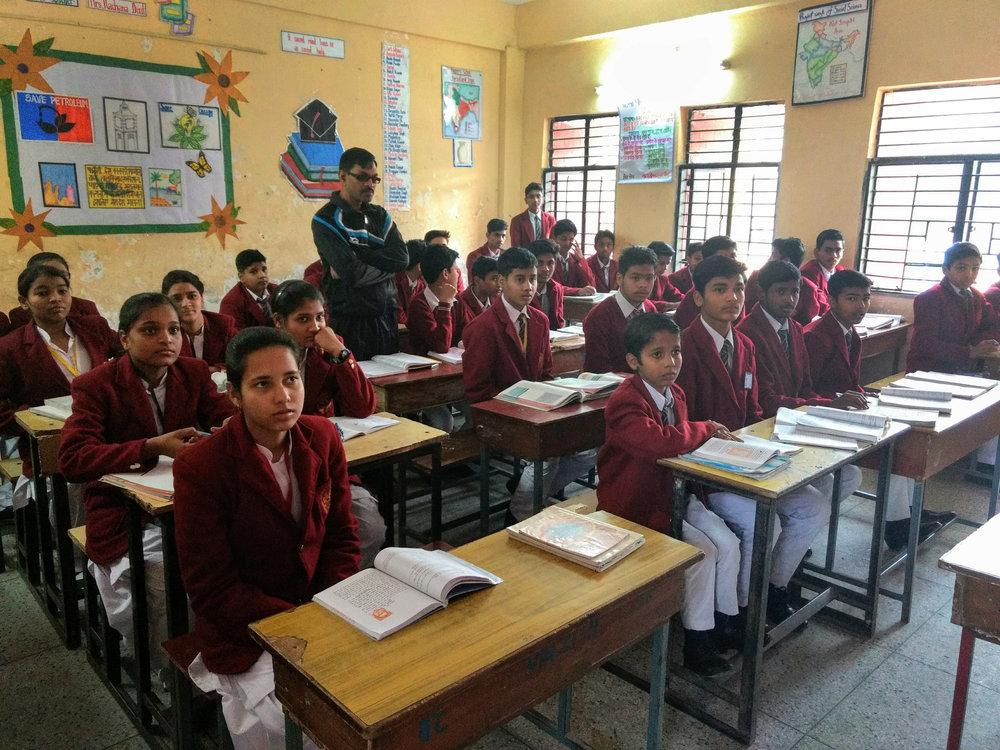 Classroom in Jawahar Navodaya Vidyalaya, Ghaziabad.