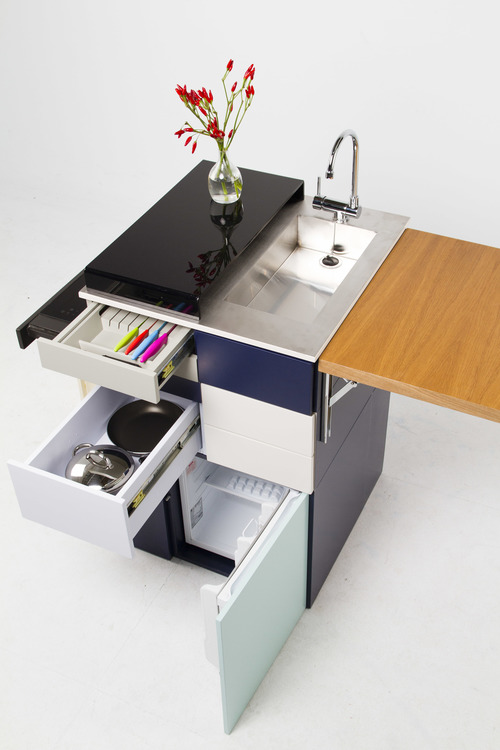 Cocinas compactas, para espacios mini - Estudio Lota