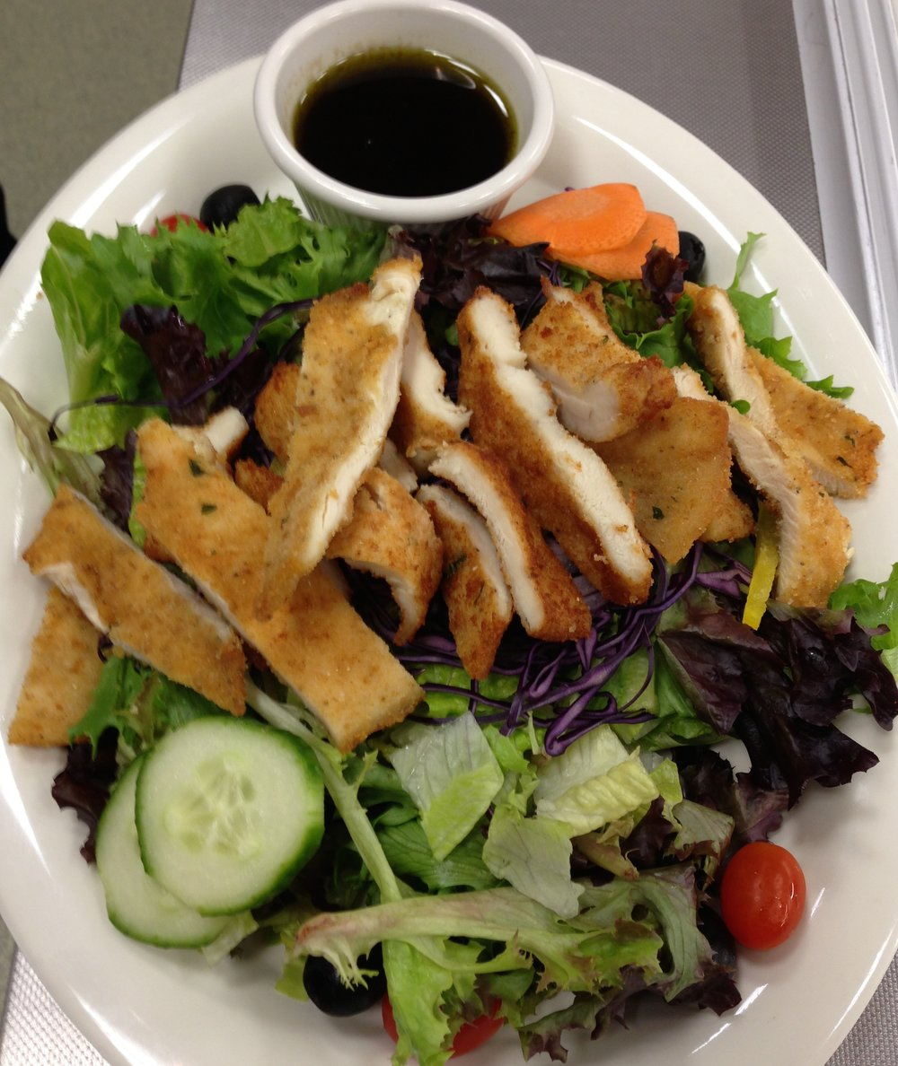 Garden Salad with Chicken cutlet