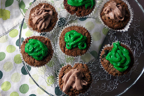 Chocolate and spinach cupcakes recipe