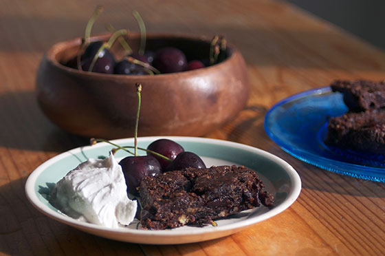 black forest gateau raw brownies