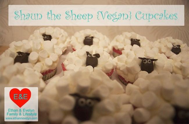 Vegan Shaun the Sheep cupcakes